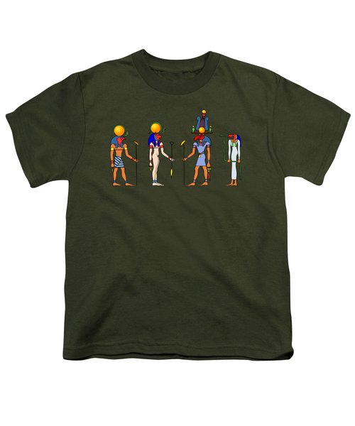 Gods And Goddess Of Ancient Egypt Youth T-Shirt