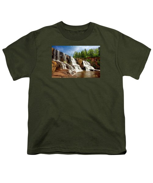 Youth T-Shirt featuring the photograph Gooseberry Falls by Rikk Flohr