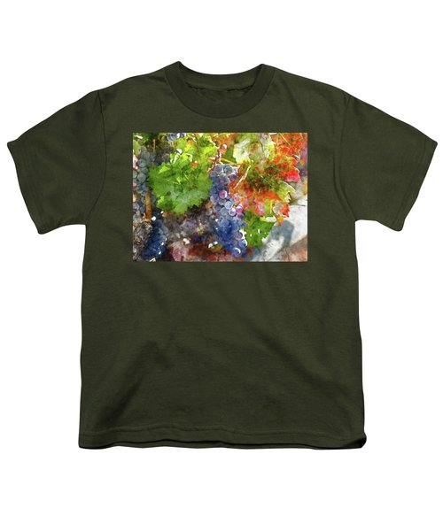 Grapes On The Vine In The Autumn Season Youth T-Shirt