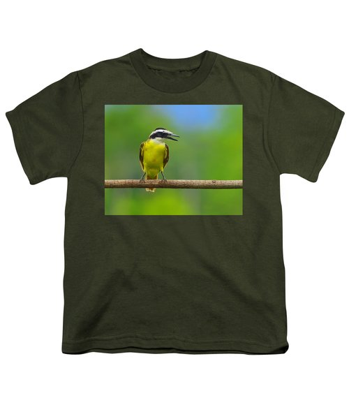 Great Kiskadee Youth T-Shirt by Tony Beck