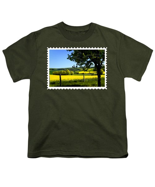 Greens And Golds Of Spring Farm Field Youth T-Shirt