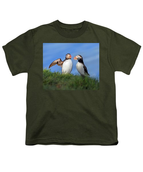 He Went That Way Youth T-Shirt by Betsy Knapp