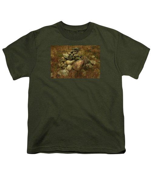 Heap Of Rocks Youth T-Shirt by Nareeta Martin