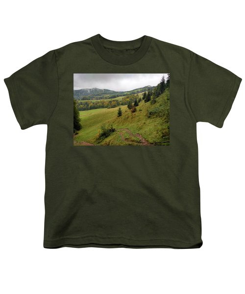 Highlands Landscape In Pieniny Youth T-Shirt