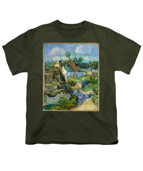 Youth T-Shirt featuring the painting Houses In Auvers by Van Gogh
