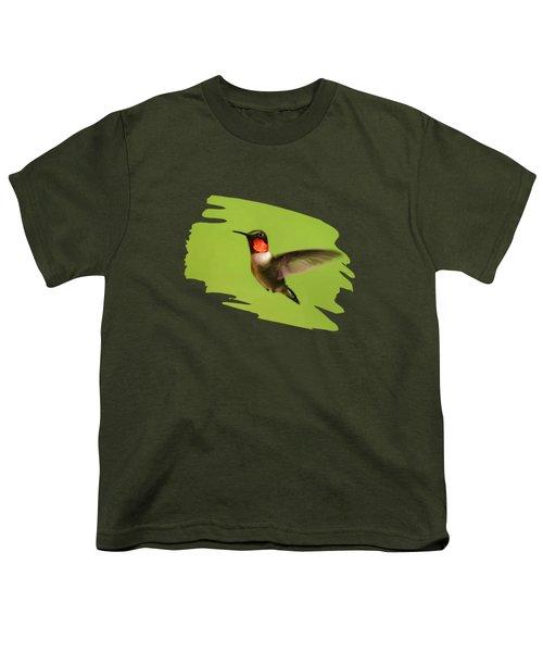 Hummingbird Defender Youth T-Shirt by Christina Rollo