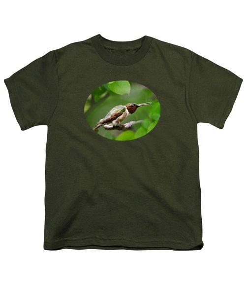 Hummingbird Hiding In Tree Youth T-Shirt