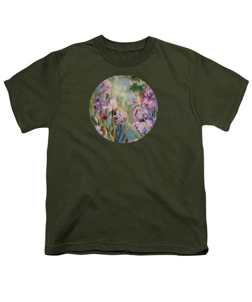 Iris Garden Youth T-Shirt by Mary Wolf