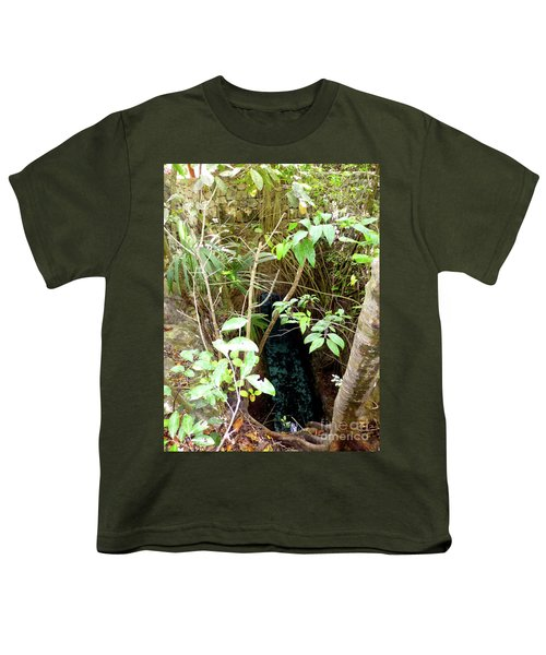 Youth T-Shirt featuring the photograph Jungle Stream by Francesca Mackenney