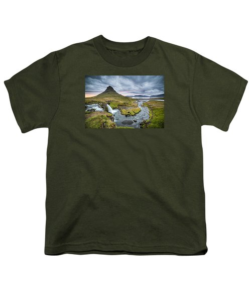 Kirkjufellsfoss 1 Youth T-Shirt
