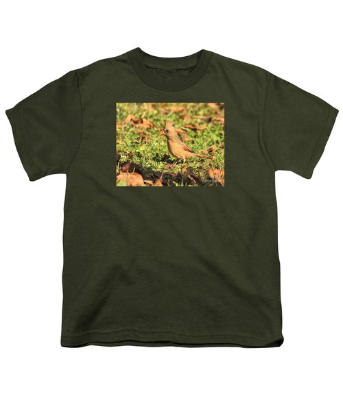 Leafy Cardinal Youth T-Shirt