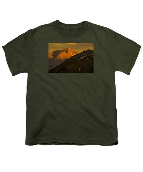 Youth T-Shirt featuring the photograph Long's Peak by Gary Lengyel