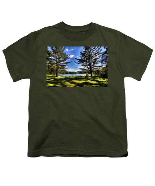 Looking At The Moose River Youth T-Shirt by David Patterson