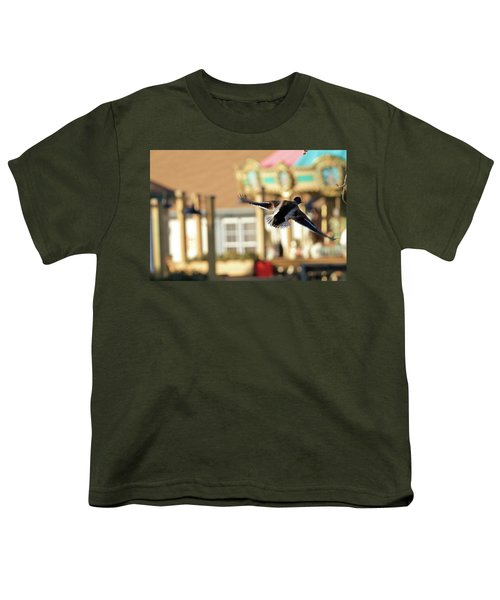Mallard Duck And Carousel Youth T-Shirt by Geraldine Scull