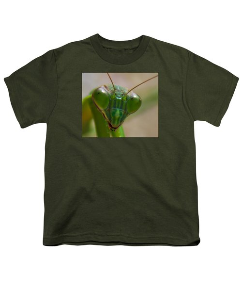 Mantis Face Youth T-Shirt by Jonny D