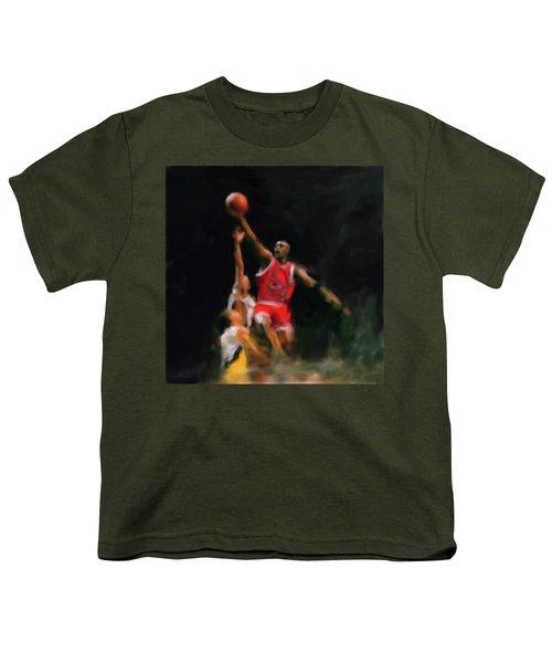 Michael Jordan 548 1 Youth T-Shirt by Mawra Tahreem