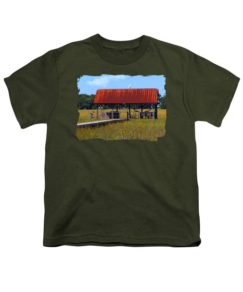 Midday Island Creek View Youth T-Shirt by Deborah Smith