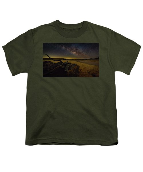 Milky Way Over The Canyon  Ranch Youth T-Shirt