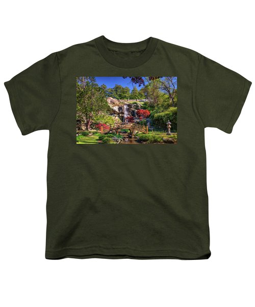 Moon Bridge And Maymont Falls Youth T-Shirt