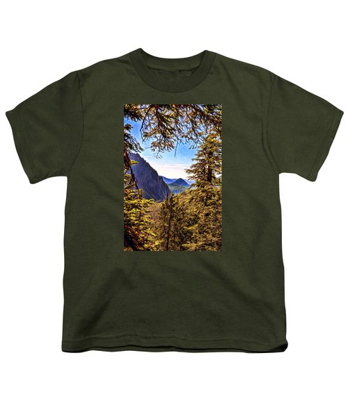 Youth T-Shirt featuring the photograph Mountain Views by Anthony Baatz