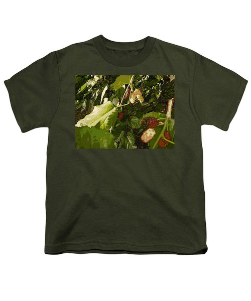 Mulberry Moment Youth T-Shirt by Winsome Gunning