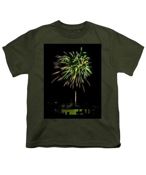 Murrells Inlet Fireworks Youth T-Shirt by Bill Barber