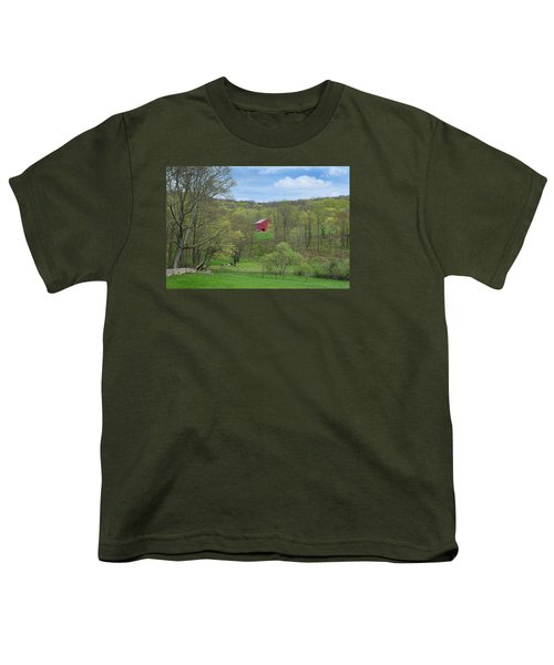 Youth T-Shirt featuring the photograph New England Spring Pasture by Bill Wakeley