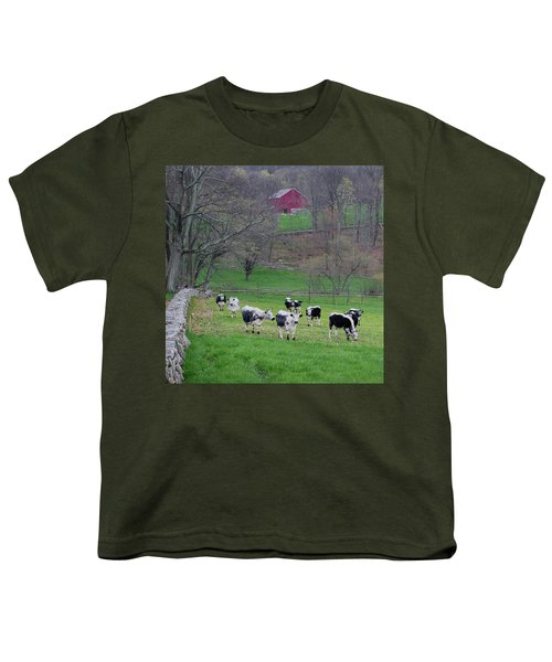 Youth T-Shirt featuring the photograph New England Spring Pasture Square by Bill Wakeley