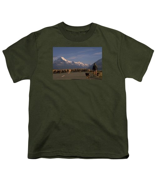 New Zealand Mt Cook Youth T-Shirt by Travel Pics