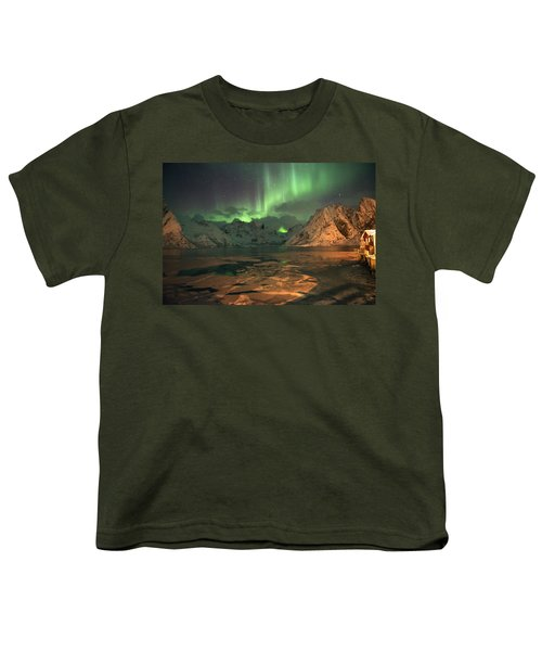 Northern Light In Lofoten, Nordland 1 Youth T-Shirt by Dubi Roman