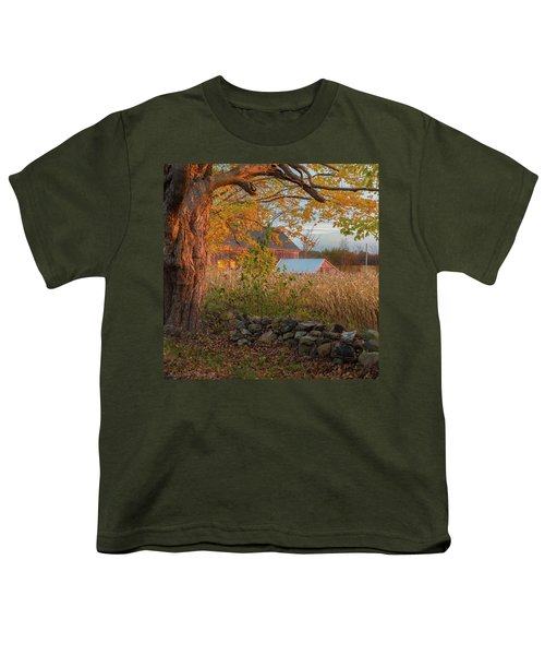 Youth T-Shirt featuring the photograph October Morning 2016 Square by Bill Wakeley