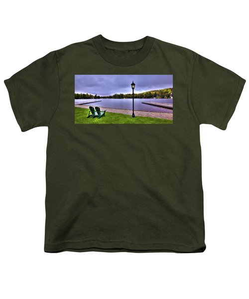 Old Forge Waterfront Youth T-Shirt by David Patterson
