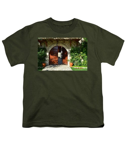 Old House Door Youth T-Shirt by Nuri Osmani