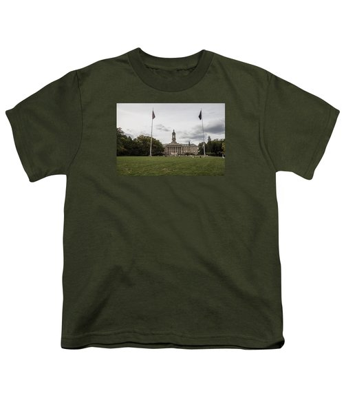 Old Main Penn State Wide Shot  Youth T-Shirt by John McGraw