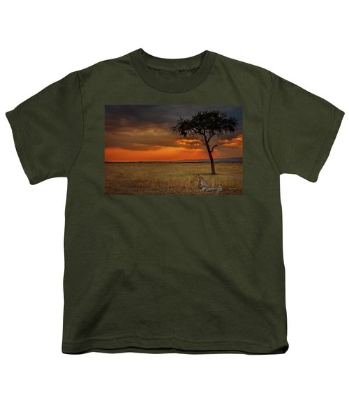 On A  Serengeti Evening  Youth T-Shirt