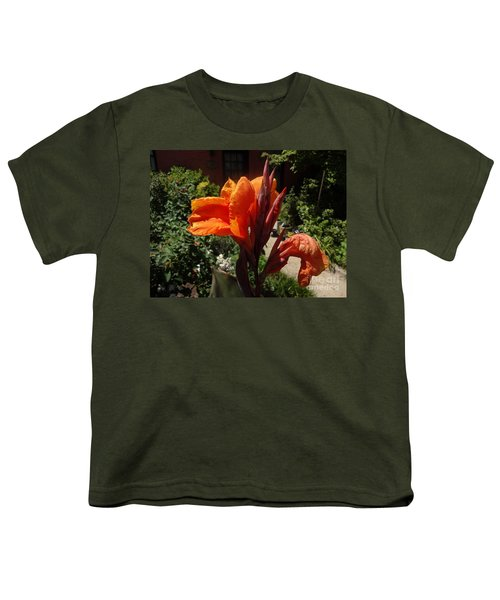 Orange Canna Lily Youth T-Shirt by Rod Ismay