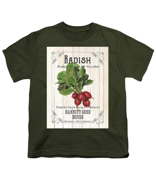 Organic Seed Packet 3 Youth T-Shirt by Debbie DeWitt