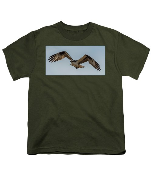 Osprey Flying Youth T-Shirt by Paul Freidlund
