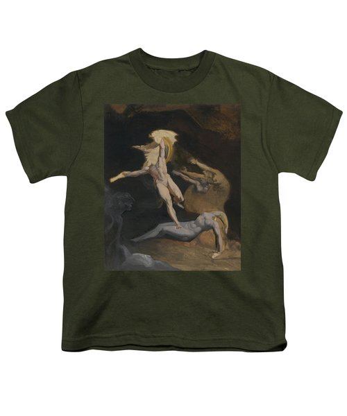 Perseus Slaying The Medusa Youth T-Shirt by Henry Fuseli
