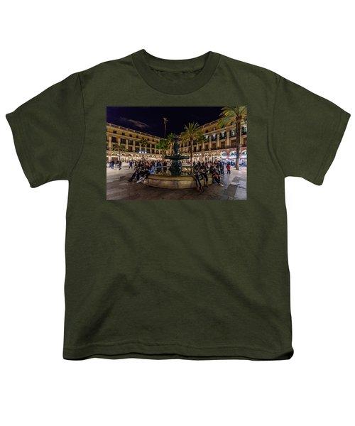 Plaza Reial Youth T-Shirt by Randy Scherkenbach