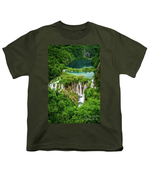 Plitvice Lakes National Park - A Heavenly Crystal Clear Waterfall Vista, Croatia Youth T-Shirt