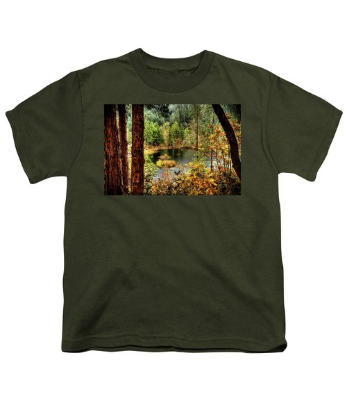 Pond At Golden Or. Youth T-Shirt