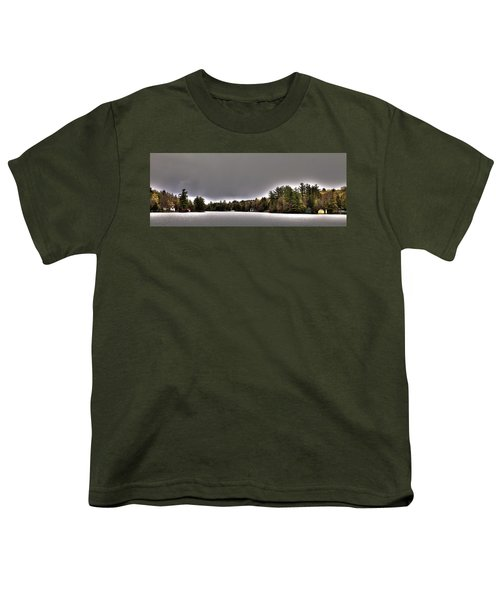 Pond Panorama Youth T-Shirt by David Patterson