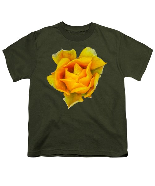Prickly Pear Flower H11 Youth T-Shirt by Mark Myhaver
