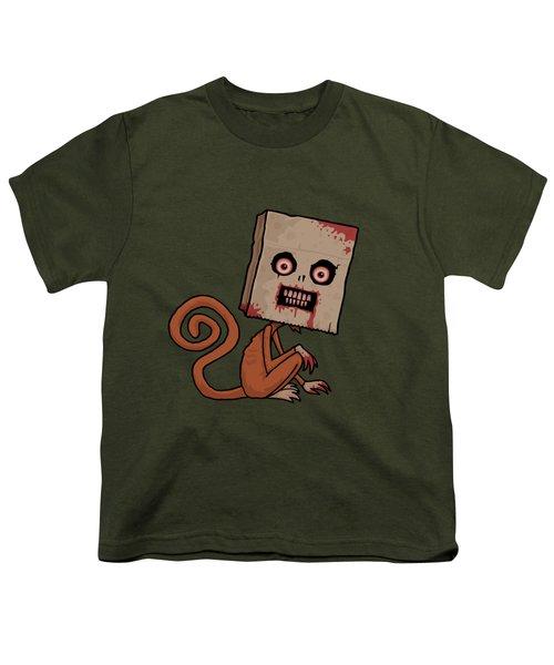 Psycho Sack Monkey Youth T-Shirt by John Schwegel