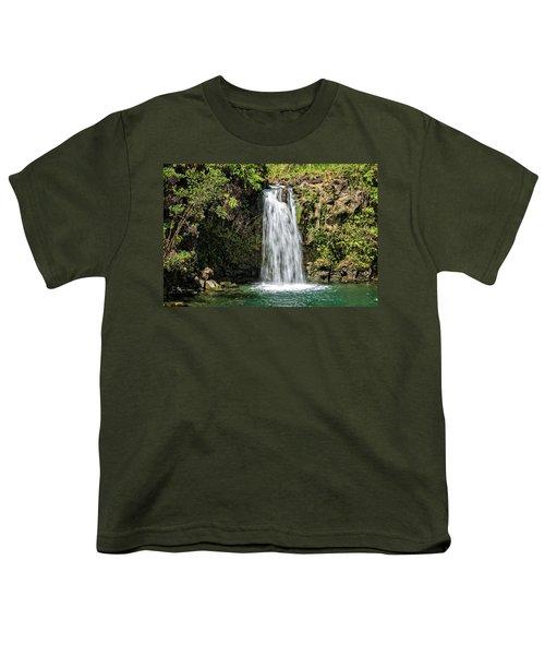 Youth T-Shirt featuring the photograph Pua'a Ka'a Falls by Jim Thompson