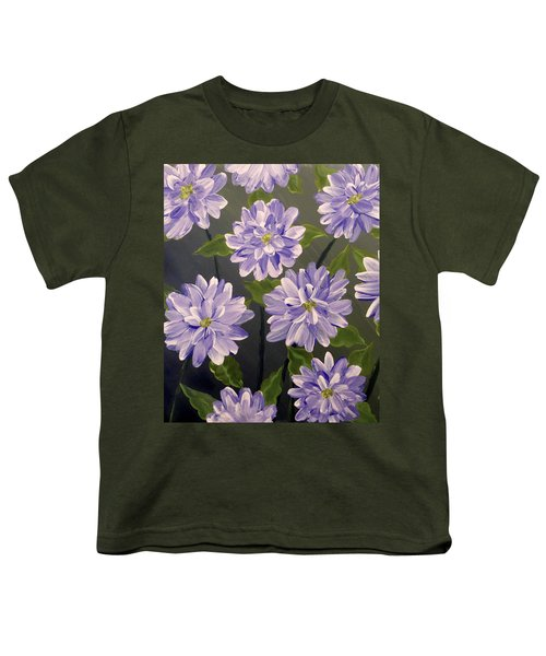 Purple Passion Youth T-Shirt by Teresa Wing