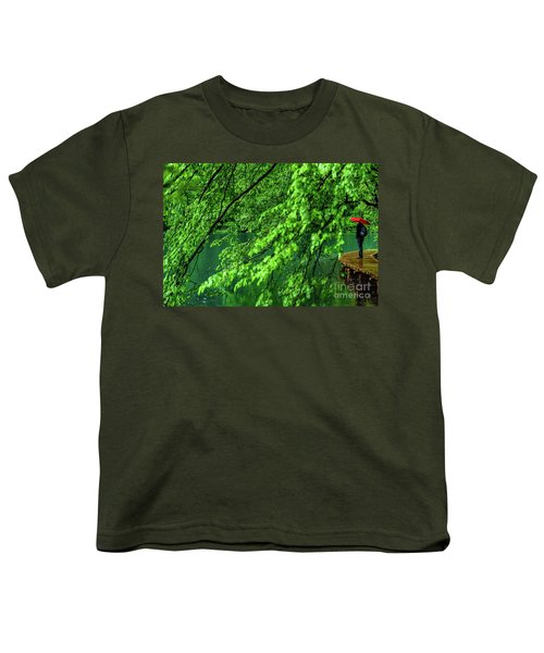Raining Serenity - Plitvice Lakes National Park, Croatia Youth T-Shirt