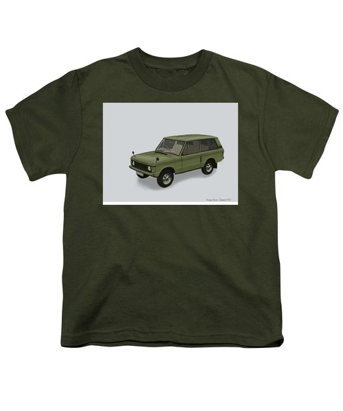 Youth T-Shirt featuring the mixed media Range Rover Classical 1970 by TortureLord Art