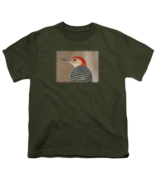 Red Bellied Woodpecker Glamour Portrait Youth T-Shirt